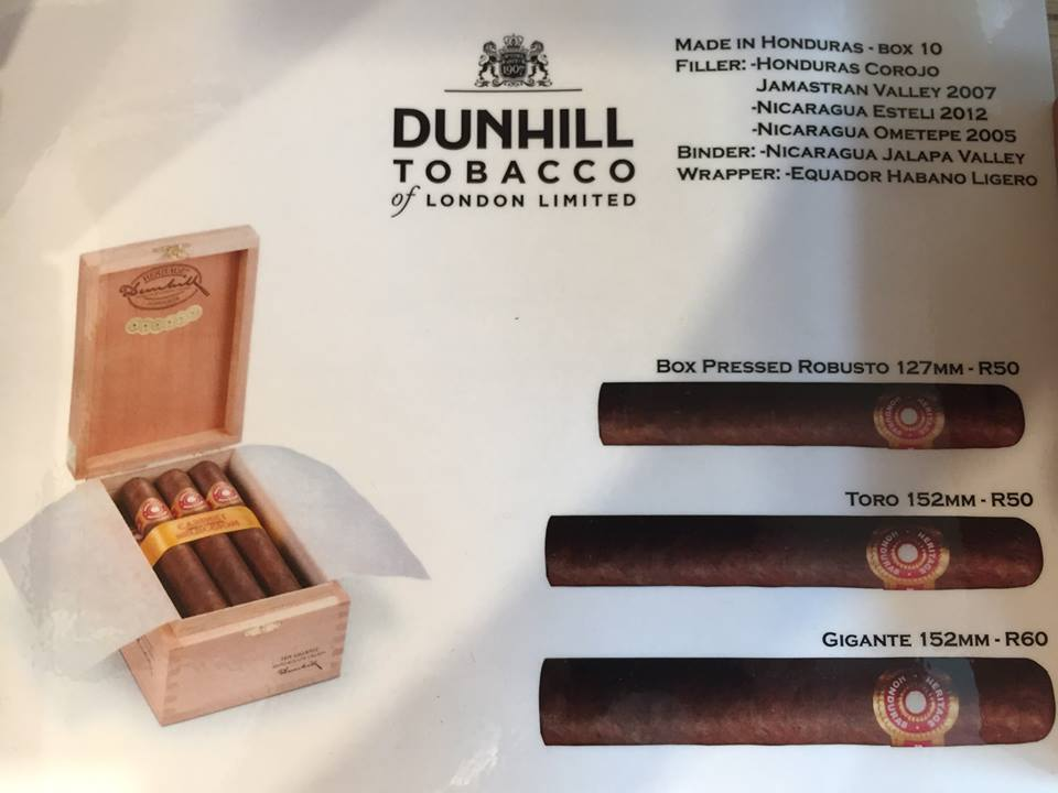 cigares Héritage by Dunhill